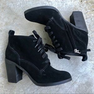 Dolce Vita Seiko black suede lace up ankle boots